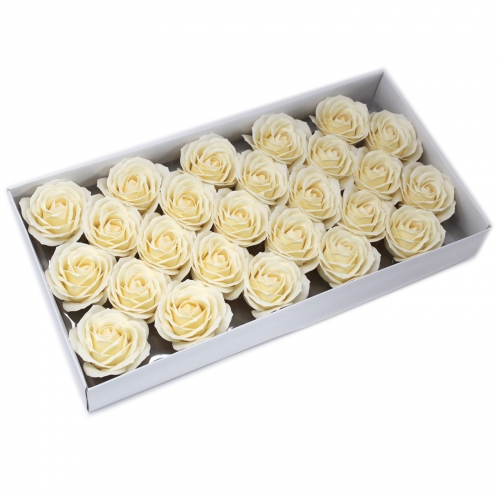 Mydlové kvety, veľká ruža - krémová - Mydlové kvety