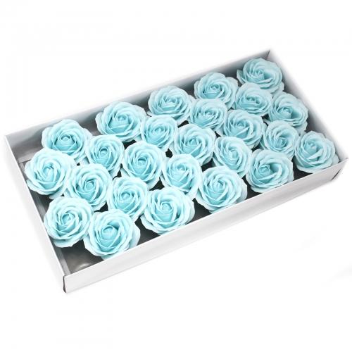 Mydlové kvety, veľká ruža - pastelová modrá - Ruže