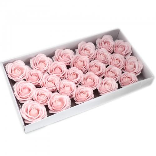 Mydlové kvety, veľká ruža - ružová - Mydlové kvety