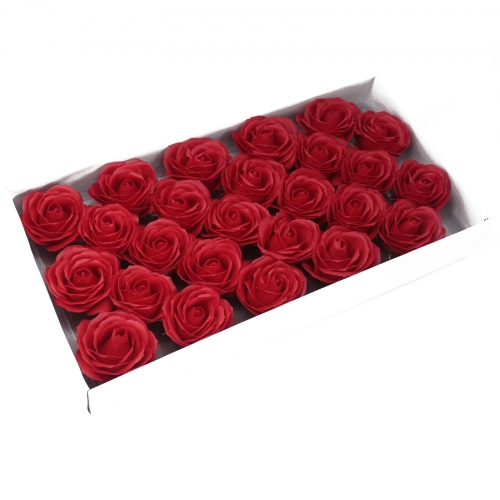 Mydlové kvety,Veľká ruža - červená