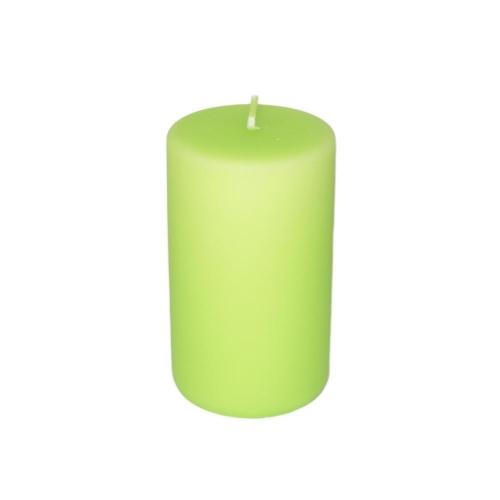 Sviečka valec 60x100 matný pastel zelený