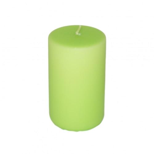 Sviečka valec 65x110 matný pastel zelený