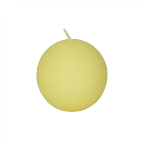 Veľkonočná sviečka guľa 6cm matná krémová citrónová