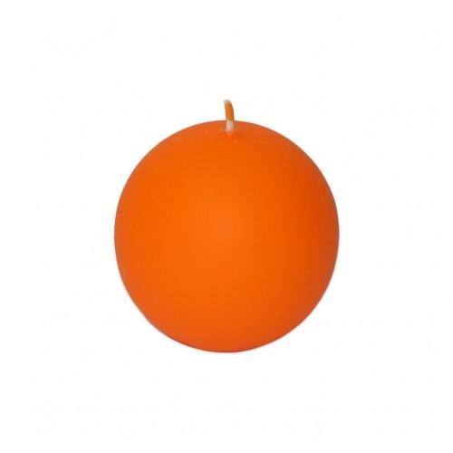 Veľkonočná sviečka guľa 6cm matná oranžová