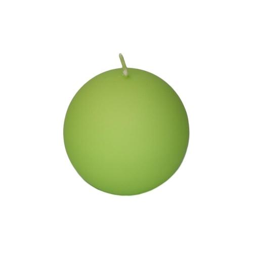 Veľkonočná sviečka guľa 6cm matná pastel zelená