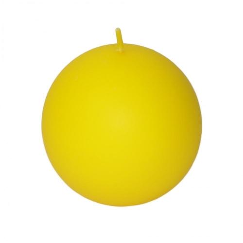 Veľkonočná sviečka guľa 8cm matná citrónová