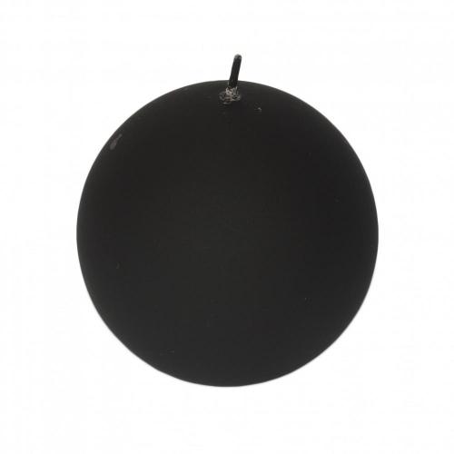 Veľkonočná sviečka guľa 8cm matná čierna