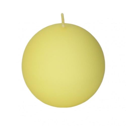 Veľkonočná sviečka guľa 8cm matná krem citrinova