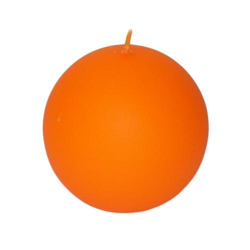 Veľkonočná sviečka guľa 8cm matná oranžová