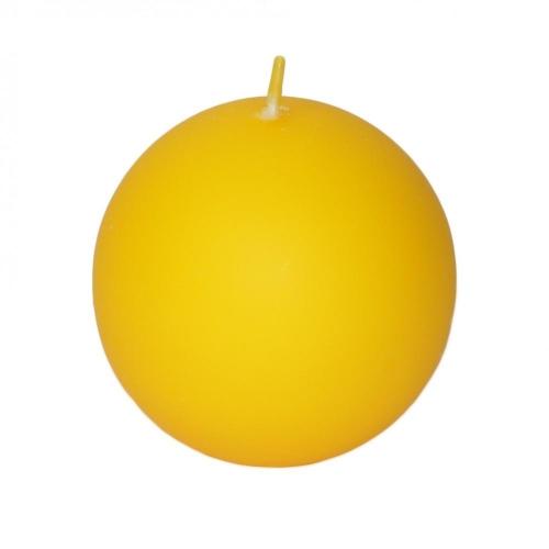 Veľkonočná sviečka guľa 8cm matná žltá