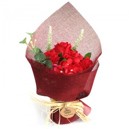 Stojaca mydlová kytica - červená - Stojatá