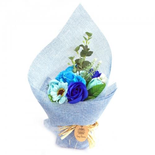 Stojaca Mydlová Kytica - Modrá - Mydlové kytice