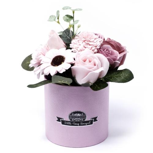 Malá Mydlová Kytica v Darčekovej Krabici - Ružová - Mydlové kytice