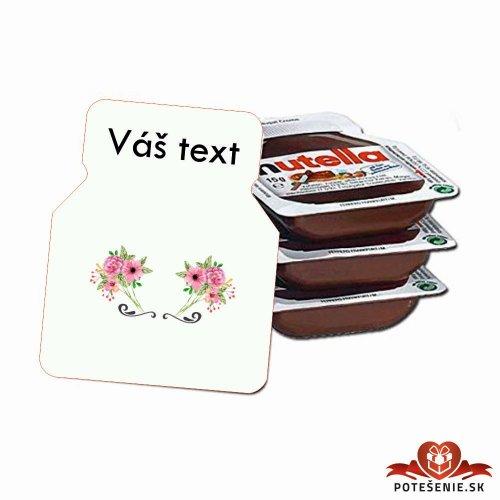 Svadobná mini Nutella, motív S013