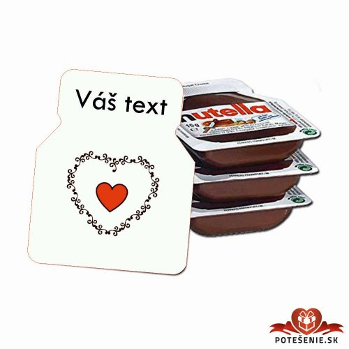 Svadobná mini Nutella, motív S053 - Svadobná Nutella