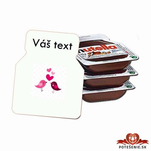 Svadobná mini Nutella, motív S054