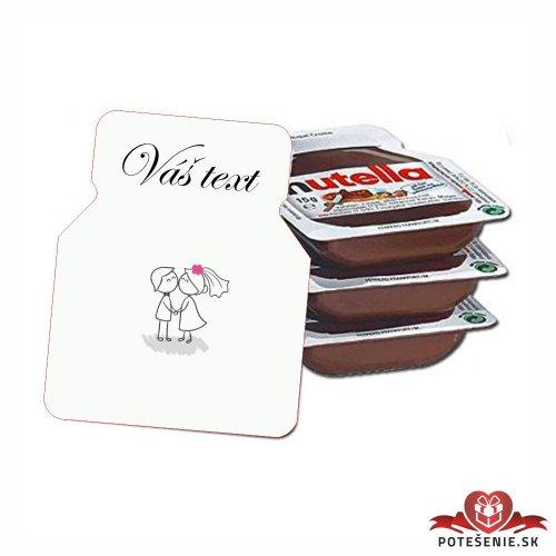 Svadobná mini Nutella, motív S074