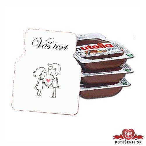 Svadobná mini Nutella, motív S093