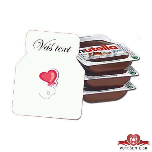 Svadobná mini Nutella, motív S098 - Svadobná Nutella