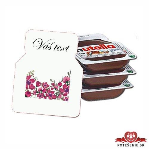 Svadobná mini Nutella, motív S101