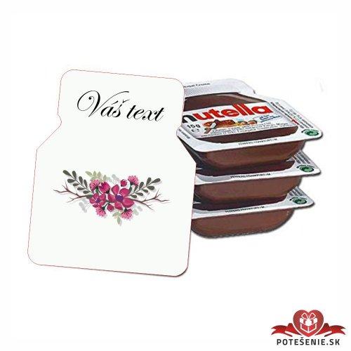 Svadobná mini Nutella, motív S102