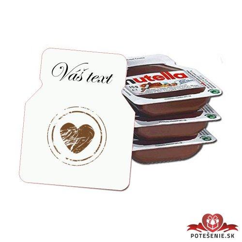 Svadobná mini Nutella, motív S115