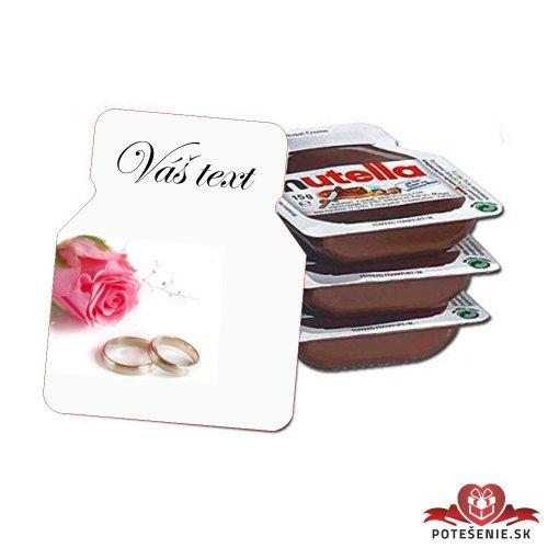 Svadobná mini Nutella, motív S121