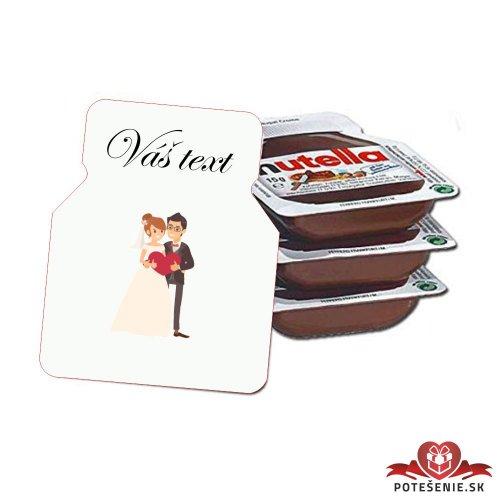 Svadobná mini Nutella, motív S134