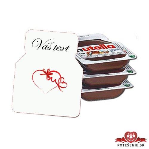 Svadobná mini Nutella, motív S223 - Svadobná Nutella