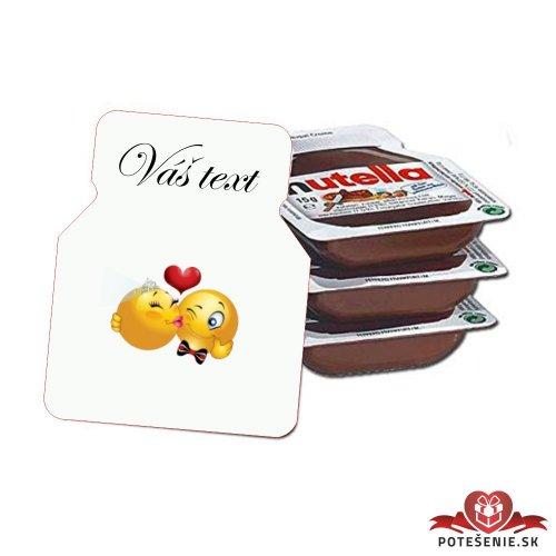 Svadobná mini Nutella, motív S231