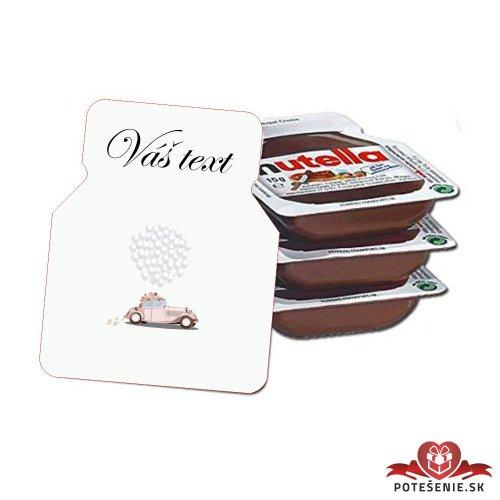 Svadobná mini Nutella, motív S233