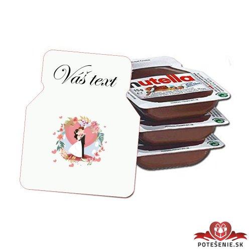 Svadobná mini Nutella, motív S298