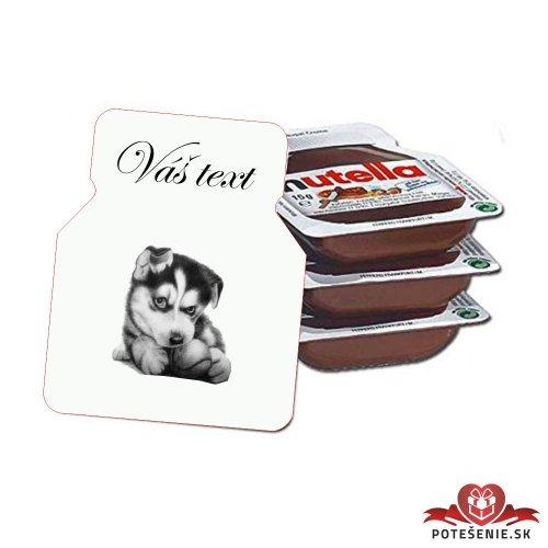 Svadobná mini Nutella, motív S362