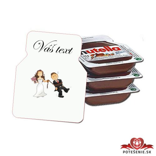 Svadobná mini Nutella, motív S427
