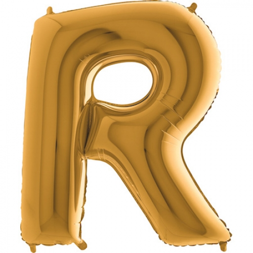 Balón písmeno R zlaté 100 cm - Balóny písmená