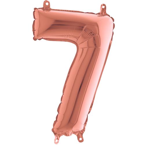 Balón číslo 7 rose gold 35 cm - Balóny čísla