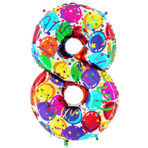 Balón číslo malé 8 balóny - Balóny čísla