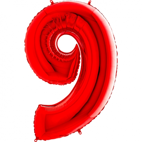 Balón číslo 9 červené 66 cm - Balóny čísla