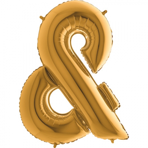 Balón symbol & zlaté veľké - Balóny čísla
