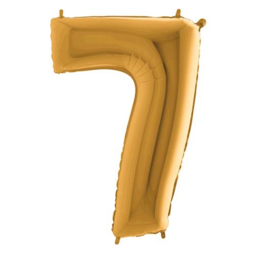 Balón číslo 7 zlaté 100 cm - Balóny čísla