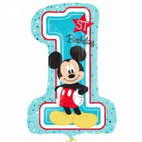 Balón číslo 1 Mickey Mouse 48x71 cm - Balóny čísla
