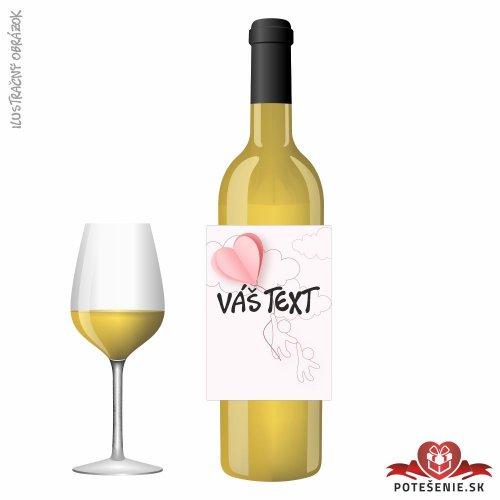Narodeninové darčekové víno, motív 046