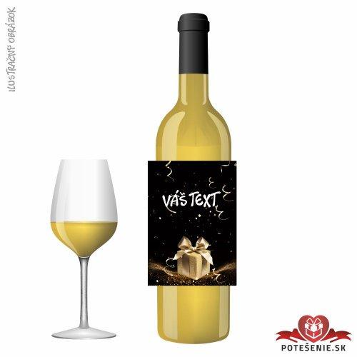 Narodeninové darčekové víno, motív 063 - Darčekové víno na oslavu