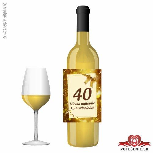 Narodeninové víno, číslo 40, motív 106