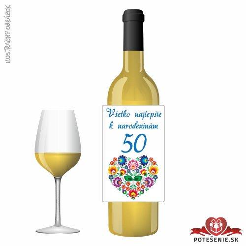 Narodeninové víno, číslo 50, motív 125