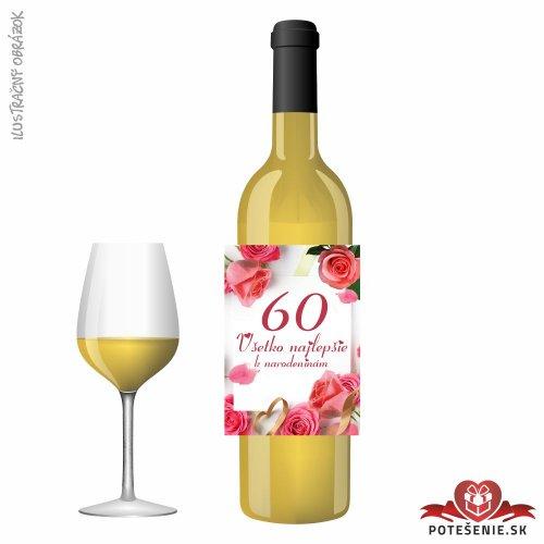 Narodeninové víno, číslo 60, motív 144 - Narodeninové víno s číslom