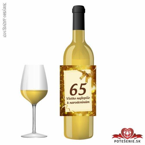 Narodeninové víno, číslo 65, motív 159 - Narodeninové víno s číslom