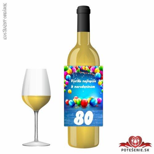 Narodeninové víno, číslo 80, motív 202