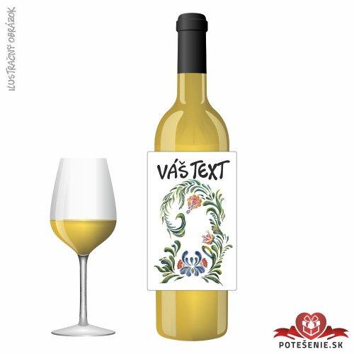 Narodeninové darčekové víno, motív 136 - Darčekové víno na oslavu
