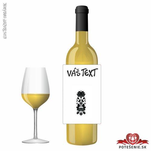 Narodeninové darčekové víno, motív 138 - Darčekové víno na oslavu
